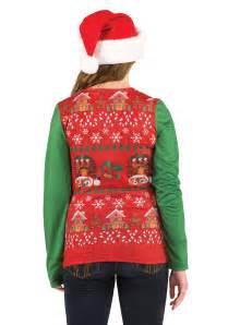 women s ugly christmas sweater vest shirt