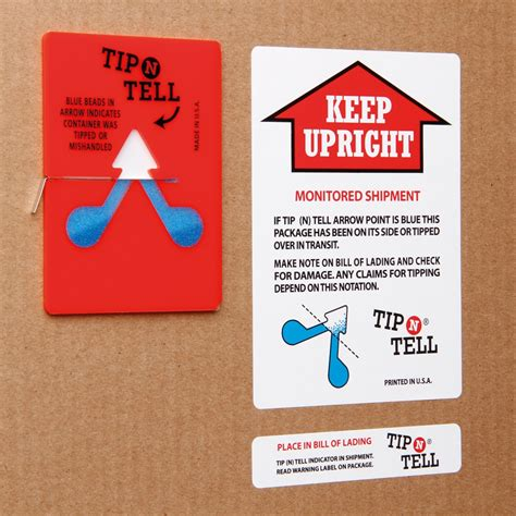 And Tell by Tip N Tell Indicator Labels Parrs Workplace