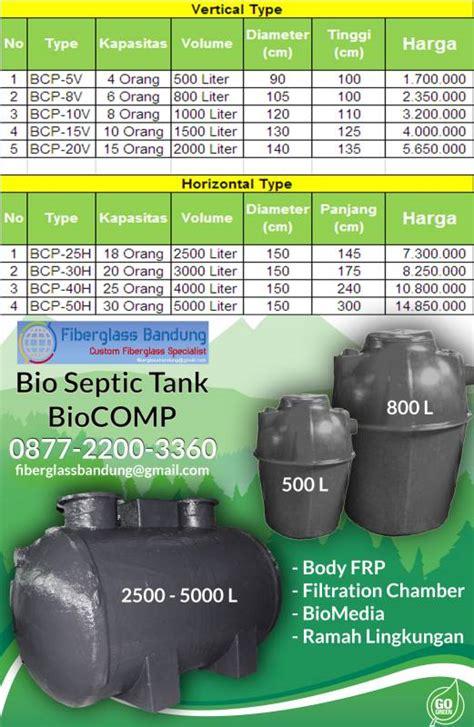 Bio Paling Murah harga bio septic tank termurah seindonesia fiberglass