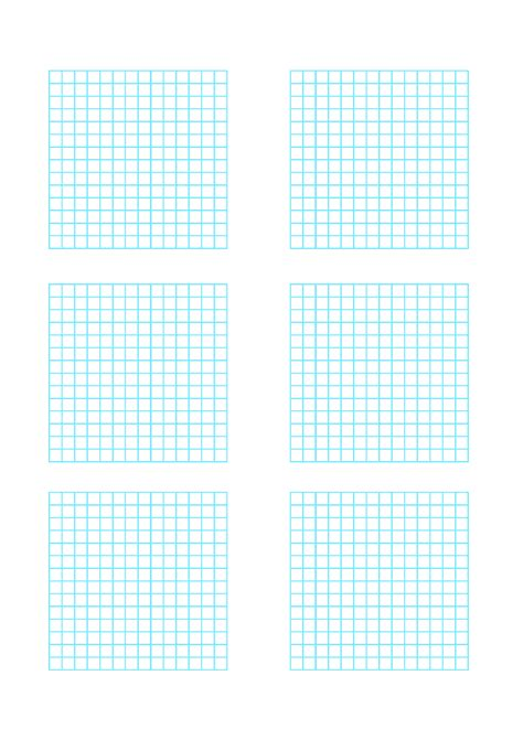 Multiple Graphs 6 Per Page Free Download Genkouyoushi Paper Template