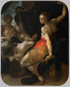 Bartholomeus spranger allegory of justice and prudence 1599 1600oil