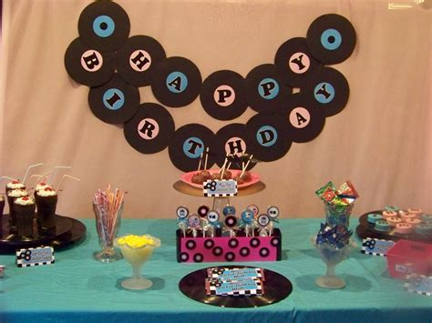 50 s table decorations 50s sock hop party dessert table everyday parties