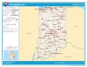 large detailed map of indiana state indiana state large