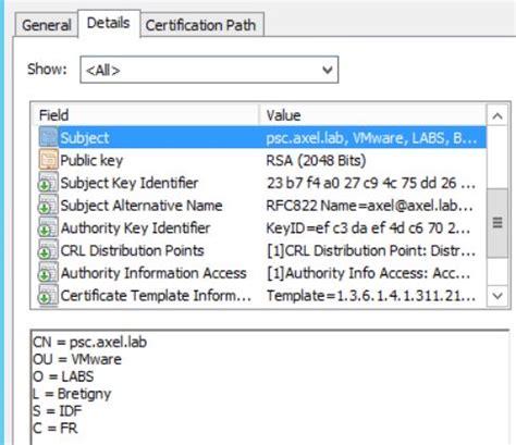 certificate template subject alternative name image