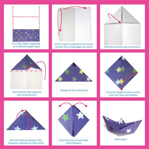 Paper Folding Things - things to make origami boats