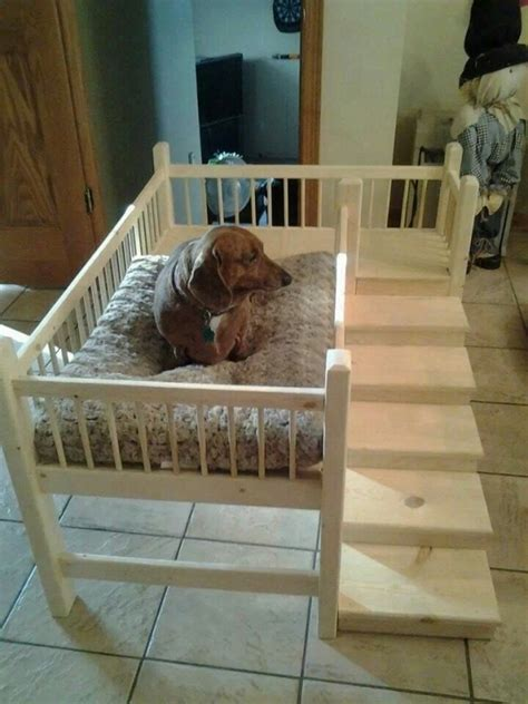 raised dog bed with stairs with steps 31 diy pet beds for your furry friends