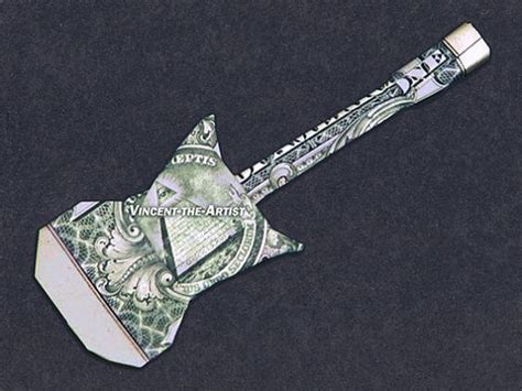 origami guitar tutorial electric guitar dollar origami gift ideas pinterest