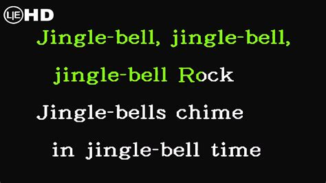 jingle bell rock karaoke instrumental  lyrics hq