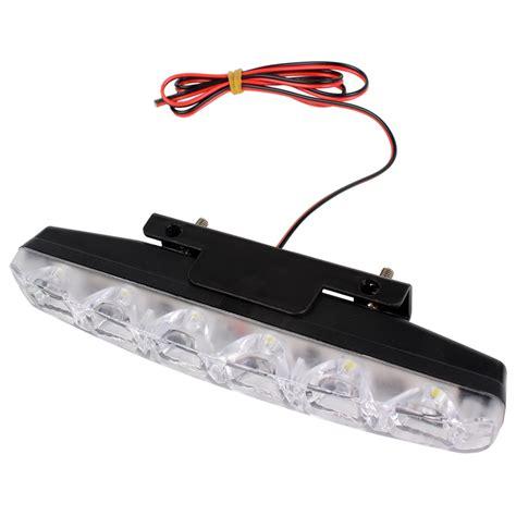 led daytime running light bulbs 1 pair universal 6 leds car daytime running lights drl dc