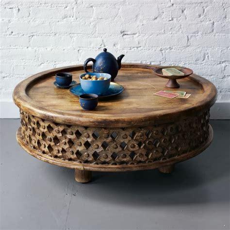 Carved Wood Coffee Table West Elm Wood Round Coffee Table West Elm Carved Wood Coffee Table