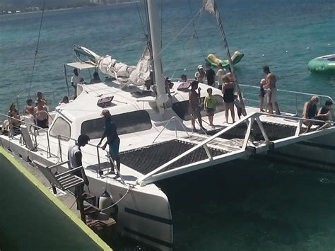 private catamaran cruise jamaica private catamaran negril sail snorkel reggae party