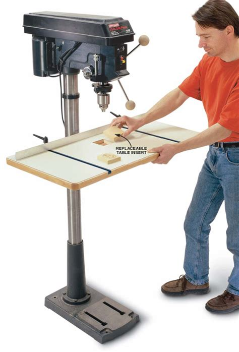press woodworking spacious drill press table popular woodworking magazine