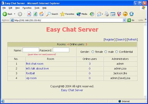 chat room software chatting
