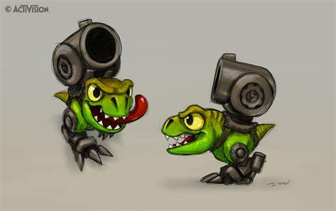 Kaos 3d Dinosaurus T Rex Hitam crabfu sdcc panel skylanders character development