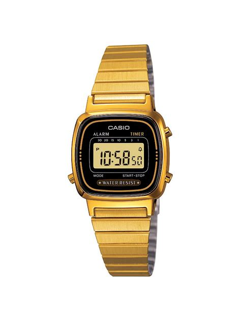 Casio Gold casio la670wega 1ef retro gold in gold lyst