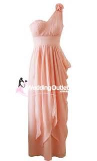 mandarin peach bridesmaid greek style maxi style c101