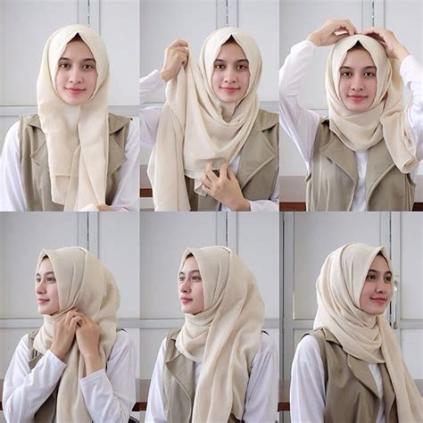tutorial hijab turban pashmina simple yaps minimalist style daily hijab tutorial by