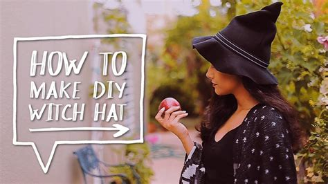 How To Make A Witch Hat Out Of Paper - diy costume how to make a diy witch hat for a