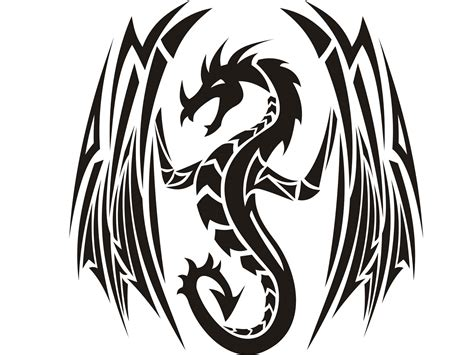 winged dragon tattoo designs wings designs clipart best