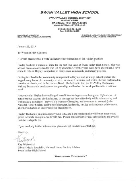 Bowdoin College Letters Of Recommendation Free Recommendation Letter For National Honor Society Community Service Letters For Junior
