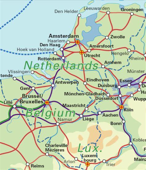 rail map belgium benelux belgium the netherlands luxembourg rail map