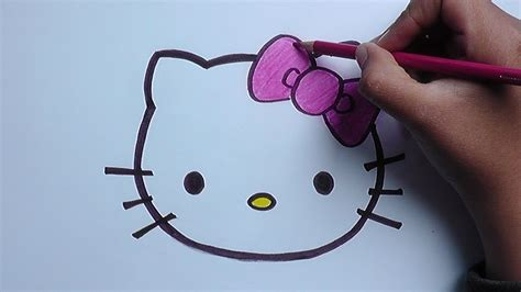 imagenes d kitty dibujo de hello kitty hello kitty drawing youtube