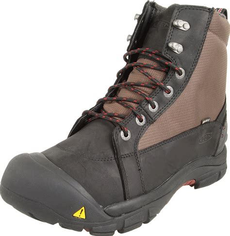 mens insulated boots keen mens brixen mid waterproof insulated boot in black