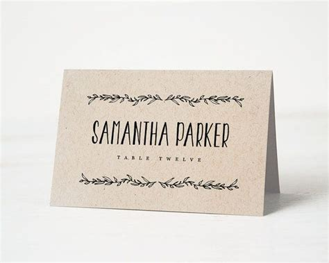 wedding table name cards template 1000 ideas about place card template on diy
