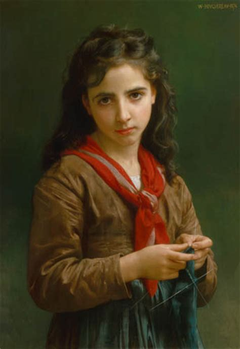 william adolphe bouguereau young girl young knitting girl william adolphe bouguereau as art