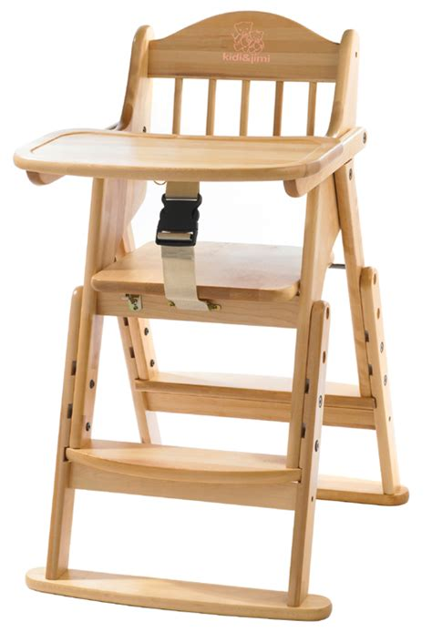 Folding High Chairs For Babies Uk by Folding Wooden Highchairs Adjustable Baby High Chair Ebay