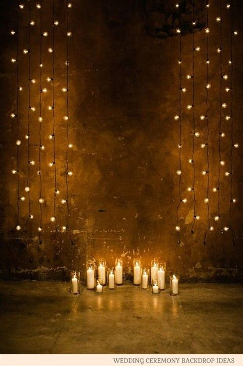 Wedding Ceremony Backdrop Ideas Wedding Light Backdrop