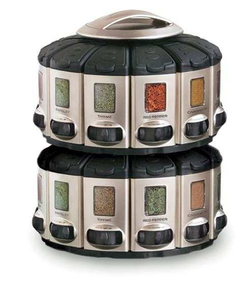 Spice Rack Spices Included Amazon Com Kitchenart Pro Auto Measure Spice Carousel