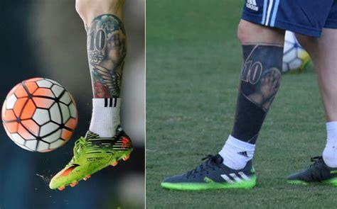 nuevo tattoo messi en el brazo el nuevo tatuaje de messi