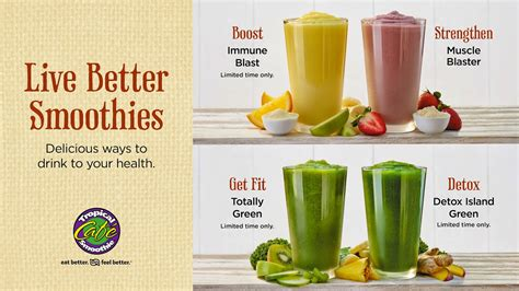 Tropical Smoothie Cafe Detox Smoothie Recipe by Tropical Smoothie Cafe Blaster