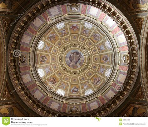 cupola ledusa indoor cupola of st istvan basilica royalty free stock