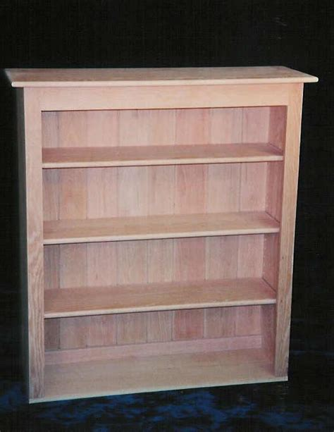 Custom Handcrafted Solid Wood Bookcases White Oak Bookcase