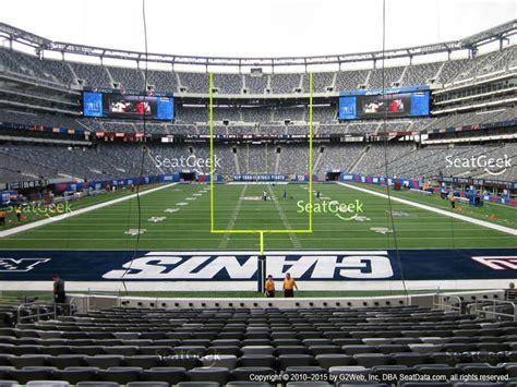 giants stadium sections metlife stadium section 126 seat views seatgeek