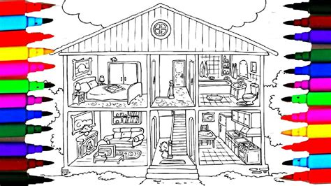 The Kitchen House Number Of Pages Coloring Pages Bathroom L Bedroom L Dining Room L Washroom