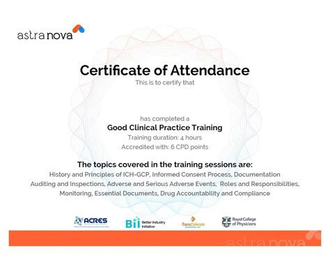 free certificate of training template customizable