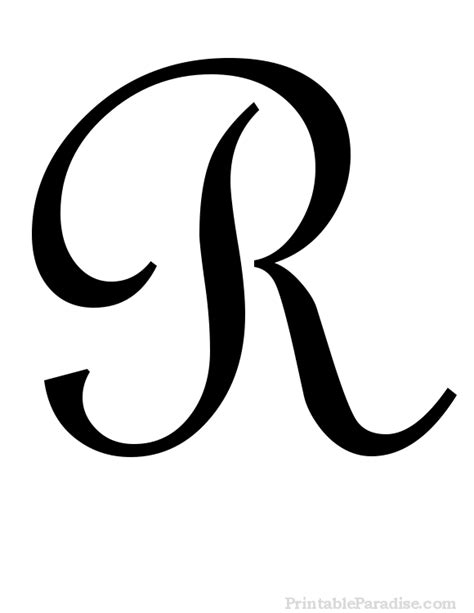 tattoo fonts r printable cursive letter r print letter r in cursive