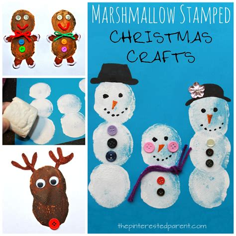 marshmallow crafts for xmas marshmallow painted crafts the pinterested parent