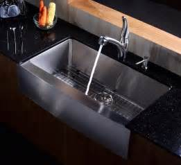 stainless farmhouse kitchen sinks kraus 36 inch farmhouse apron single bowl stainless steel