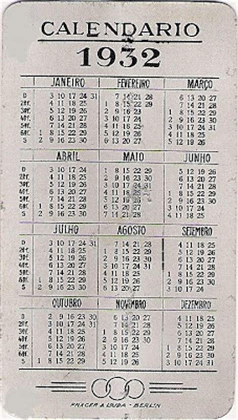 Calendario De 1932 Meu Vidago 193 Gua Salus Calend 225 1932
