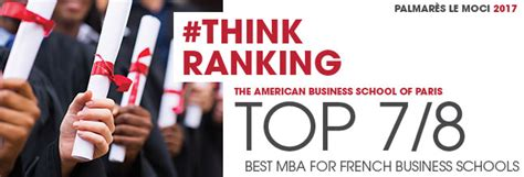 Post Mba Accreditation by Thinkranking Les Mba De L Absparis Class 233 S Dans Le