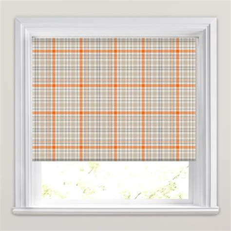 orange patterned roller blind tartan patterned roller blinds in orange beige cream taupe