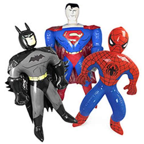 superman rubber st 12 pc assortment of novelty superman batman