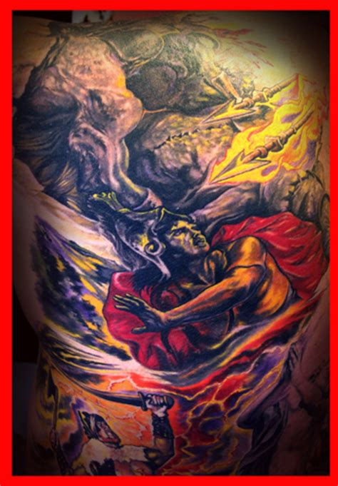 god vs devil tattoo designs god vs related keywords god vs