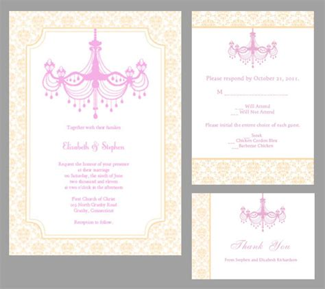 printable invitation kits free chagne chandelier wedding invitation wedding