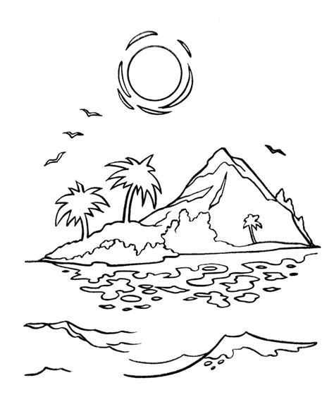 coloring page sunset sunset coloring pages to download and print for free