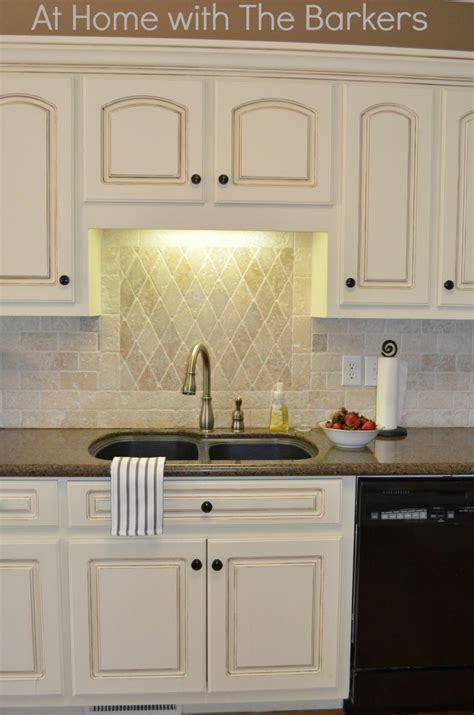 Painted Antique White Kitchen Cabinets To Paint Antique White Kitchen Cabinets With Glaze